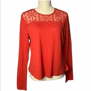 Superdry Lace Long Sleeve Top